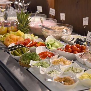 Breakfast buffet in Boutique hotel Dom in the city centre of Graz