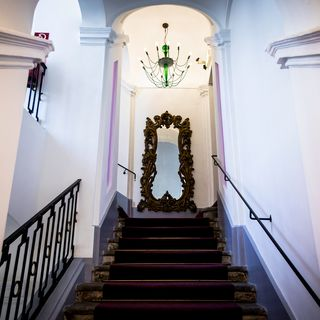 Historic details in the Palais Inzaghi Boutiquehotel Dom